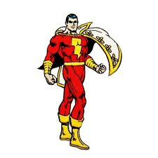 Superhero Shazam Classic Comics DC Captain Marvel Hero Iron-On Applique Patch
