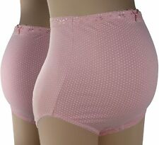 2-Pack Soft Cotton Lace Band Maternity Panty, Skin Pink