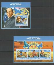 ST1360 2013 GUINEA FAMOUS PEOPLE PAUL HARRIS KB+BL MNH STAMPS