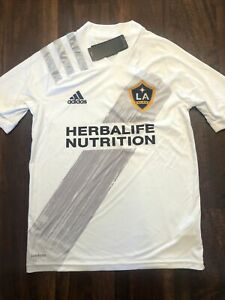 New Adidas Youth Los Angeles Galaxy Soccer Jersey Size Kids Large Chicharito #14