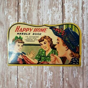 Vintage Happy Home Needle Book Near Complete Contents Colorful Graphics