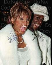 Bobby Brown Whitney Houston signed 8X10 photo picture poster autograph RP 4