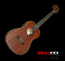 KALA KABE Acoustic Electric Baritone Ukulele All Mahogany Uke Construction KA-BE