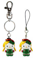 *NEW* Hello Kitty x Street Fighter: Cammy Key Chain / Mobile Charm by Toynami