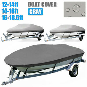 14-16ft (528*300cm) Boat Cover 600D Trailerable Jumbo Strap Zip Waterproof AU