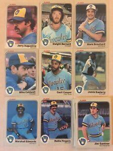 1983 Fleer Milwaukee Brewers Complete Team Set!! Paul Molitor +