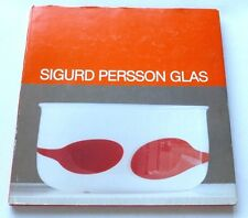 Sigurd Persson Glass - Sune Sundahl Bild  1986 SWEDISH HARDBACK ART BOOK KOSTA