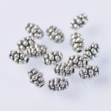 200pcs 4X6mm Tibetan Silver Findings Loose Spacer Metal Beads Jewelry Making