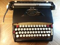 Vintage Sears Forecast 12 Manual Typewriter With Hard Carrying Case Working RARE