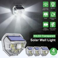 40 LED Solar Power Motion Sensor Wall Light Outdoor Garden Porch Lamp Waterproof