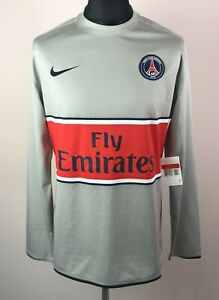 Paris Saint-Germain 2008/2009 NIKE PLAYER ISSUE Long Sleeve Away Jersey Size L