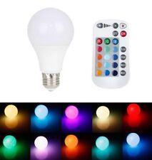 LAMPADINA RGB LED 9 W E27 LAMPADA CROMOTERAPIA A COLORI CON TELECOMANDO