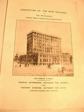 1914 Program for Dedication of Providence Y.M.C.A. Bldg.