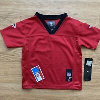 Blank CUSTOMIZABLE Atlanta Falcons NFL Toddler Jersey Size 2T Red Boys Football