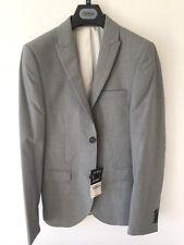 Topman PUPPYTOOTH Skinny Fit Blazer Traje Chaqueta-Negro/Blanco-Reino Unido 36R PVP £ 110