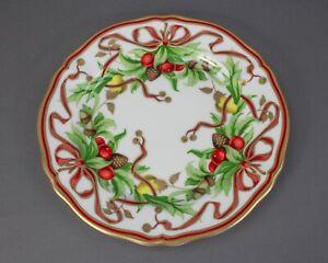 "Tiffany & Co. Tiffany Holiday Garland Christmas 10 1/2"" Dinner Plate"