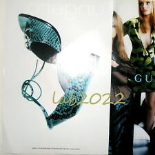 Gucci Tom Ford Rare  1996 Ad Shoes New Gorgeous Green Python 40 1/2 C NEW