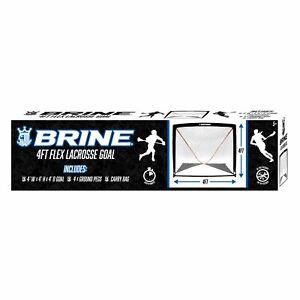Brine 4ft Lacrosse Goal - 4' x 4' x 4' with heavy duty flexible posts