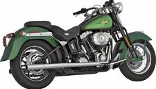 Vance And Hines Chrome True Duals Exhaust for 1997-2011 Harley Softail