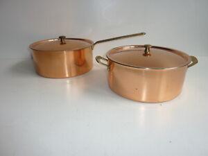 Spring Culinox Kupfer Bräter Bratentopf Stielkasserolle neuwertig