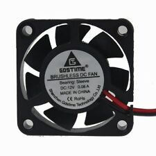 GDT 12V mini 4cm 40mm x 10mm Brushless PC CPU Case Cooling Fan 2Pin 7blades