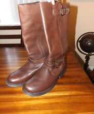 Steve Madden Women Size 11 Brown Frencchh Moto Riding Leather Boots Fall Winter