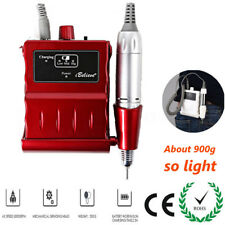 Pro 30000RPM Electric Nail Drill Machine Rechargeable Cordless Portable Manicure