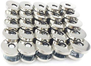50 Sets Magnetic Purse Snap Clasps Button/Great for Closure Handbag Silver 14mm