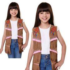 Girls American Indian Waistcoat Costume Kids Dreamcatcher Native Fancy Dress