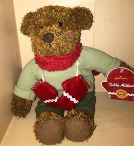 Hallmark Teddy Mittens Brown Teddy Bear Plush Red Winter Scarf 100th Anniversary