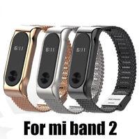 Stahlband Metall Handgelenk Armband Ersatz Fit Xiaomi MI Band 2