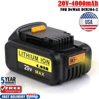 DCB206 20V 4.0Ah Max XR Lithium For Dewalt DCB205 DCB204-2 DCB200 Drill Battery