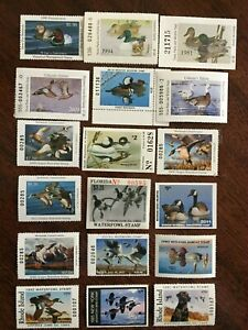 Lot of 18 duck stamps - various states