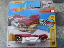 Hot Wheels 2017 #241/365 DISQUE FLASH rouge blanc HW Légendes de vitesse Fonte