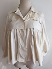 MAXAZRIA Collection Short Jacket Casual Blazer Top Ivory Size M