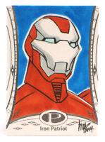 2014 Marvel Premier Iron Patriot Sketch Card Irma Ahmed Upper Deck UD Base 1/1