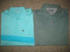 2-Lot Matte Grey Men's Polo Shirts 2XL Casual Dress Lounge Gray & Light Green