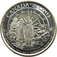 2013 Canadian Arctic Expedition Achievement Frosted Variety 25 Cent Coin