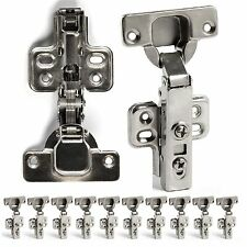 10x 35mm Hydraulic Slow Shut Clip-On Plate Soft Close Kitchen Cabinet Door Hinge
