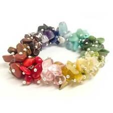 Women Fashion Bracelet, 18 types of Natural Gemstones irregular stone bracelet