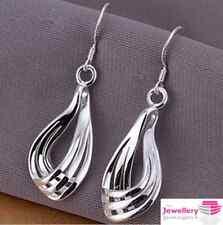 925 Silver Plated Peardrop Goccia / pendenti orecchini da donna SPEDIZIONE GRATUITA