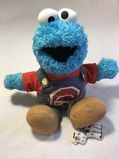 "2008 Fisher-Price Sesame Street Talking Farmer Cookie Monster 16"" Stuffed Plush"