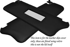 BLACK STITCH FITS FORD FIESTA MK2 XR2 83-89 2X SUN VISORS LEATHER COVERS ONLY