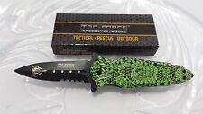 TAC-FORCE Speedster Viper Scale Textured Spring Assist Serrated Folding Knife