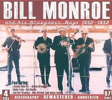 Bill Monroe And His Bluegrass Boys 1950 - 1958~BRAND NEW 4 CD BOX SET