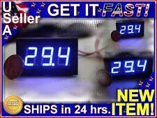 ~ BLUE 0V - 200V DC Digital Display Panel Voltmeter LED Voltage Monitor Meter ~