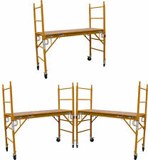 "Set of 3 Baker Mfs Scaffold Rolling Towers 29""W X 6'H Deck with Double Locks Cbm"
