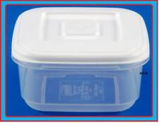 0.6L SQUARE PLASTIC FOOD STORAGE LUNCH BOX CONTAINER LID CANISTER STORER TUB