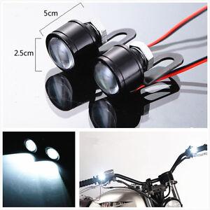 2 Pcs 12V 120 LM Motorcycle Handlebar Rearview Mirror LED Daytime Running Light