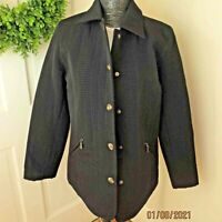 Gallery Womens Quilted Black Coat Jacket Size Medium